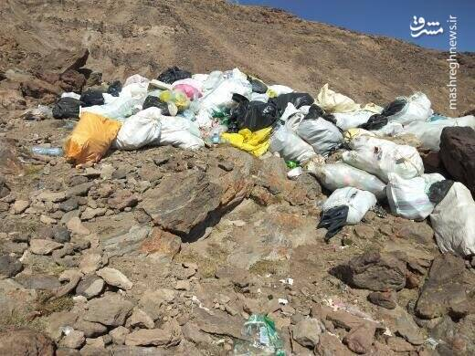 عکس دپوی زباله در دماوند به چهارم مهرماه سال 99