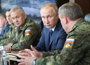 بازدید ولادیمیر پوتین از رزمایش «قفقاز ۲۰۲۰»