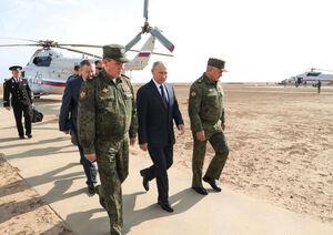 عکس/ بازدید پوتین از رزمایش «قفقاز ۲۰۲۰»