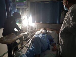 عکس/ امیرآبادی فراهانی در بیمارستان بستری شد