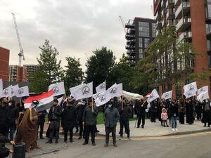 عکس/ تجمع حامیان حشدالشعبی در لندن