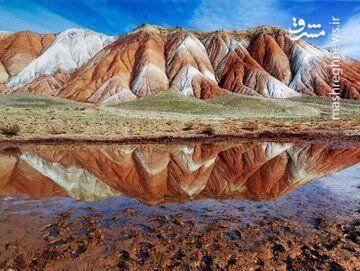 تجلی رنگینکمان خاکی در کوههای آلاداغ لار +عکس