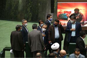 عکس/ حضور وزیر پیشنهادی صمت در صحن مجلس