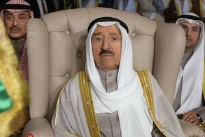 عکس/ پرچم کویت در کاخ سلطنتی پایین کشیده شد