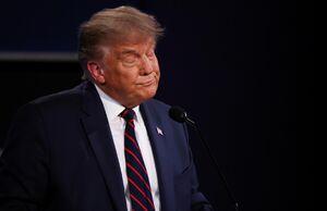 عکس/ واکنشهای زبان بدن ترامپ به اظهارات بایدن