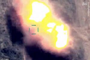 تصاویر هوایی از انهدام ادوات ارتش ارمنستان