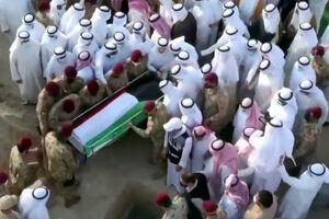 فیلم/ مراسم تشییع پیکر امیر کویت