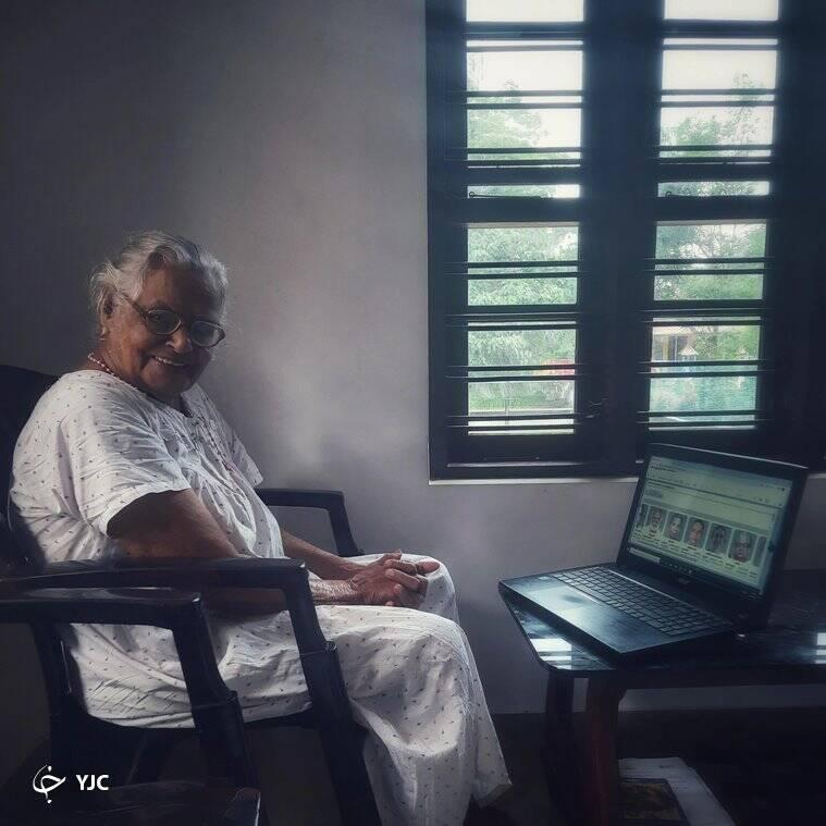 مهارت جالب مادربزرگ ۹۰ ساله در استفاده از لپ تاپ!