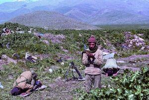 عکس/ نیایش رزمندگان در میانه جنگ