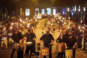 درگیری پلیس و طرفداران استقلال کاتالونیا