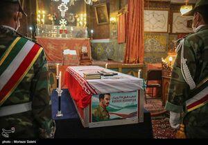 مراسم تشییع و تدفین شهید هراچ هاکوپیان در اصفهان