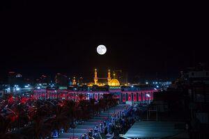تصویری زیبا از گنبد حرم حضرت اباالفضل(ع)