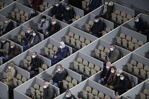 عکس/ دیوارکشی در استادیوم