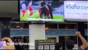 فیلم/ شادمانی مسافران در فرودگاه کیش بعد برد پرسپولیس