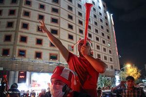 شادی مردم پس از صعود پرسپولیس به فینال آسیا - تهران