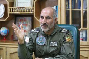 خلبان ستاد سید قاسم خاموشی فرمانده پایگاه چهارم هوانیروز ارتش
