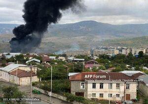 فیلم/ بمباران قرهباغ توسط ارتش آذربایجان