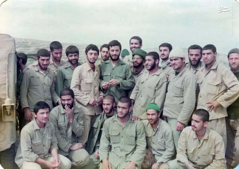 شهید مجید زادبود در کنار شهیدان محسن نورانی، حاج عباس کریمی و حاج محمدابراهیم همت