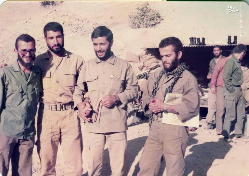 شهید مجید زادبود در کنار شهید حاج محمد ابراهیم همت