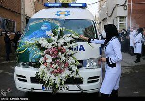 تشییع پیکر دومین شهید مدافع سلامت کرمان