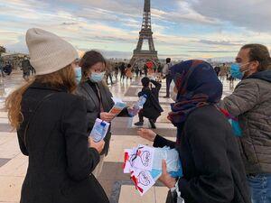تبلیغ پیام اربعین در پاریس
