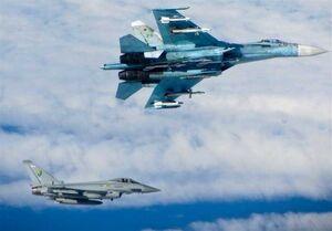 تقابل «سوخو-۲۷» روسیه با ۲ فروند هواپیمای جاسوسی