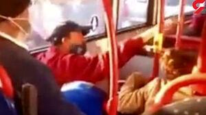 کتک خوردن وحشتناک دختر به خاطر نزدن ماسک! +فیلم