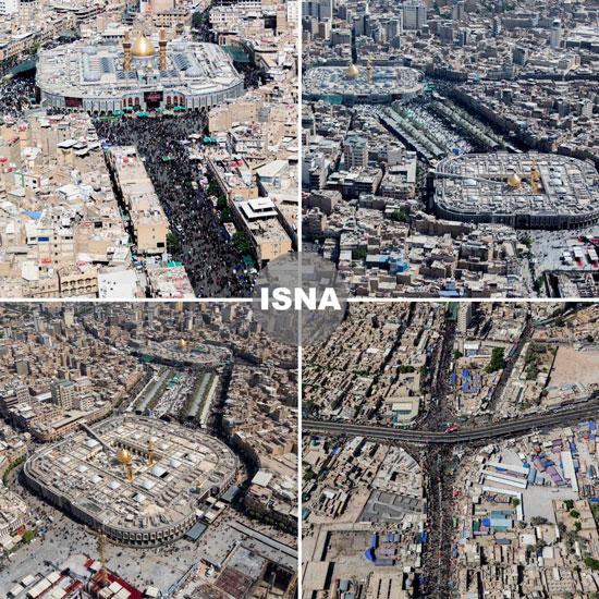 2939548 - تصاویر هوایی از کربلا دو روز مانده تا اربعین