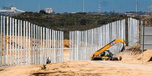 عکس| تکمیل تقریبی دیوار زیرزمینی صهیونیستی در مرز غزه