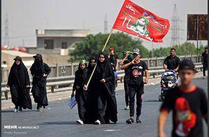 عکس/ راهی شدن زوار اربعین از بغداد به کربلا