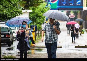 ادامه بارش باران در پایتخت