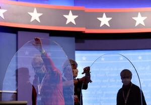دکور جدید محل مناظره انتخابات 2020آمریکا