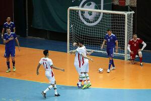 پیروزی تیم ملی فوتسال ایران برابر ازبکستان