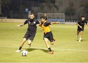 حضور مدافع استقلال در تمرین تیم قطری