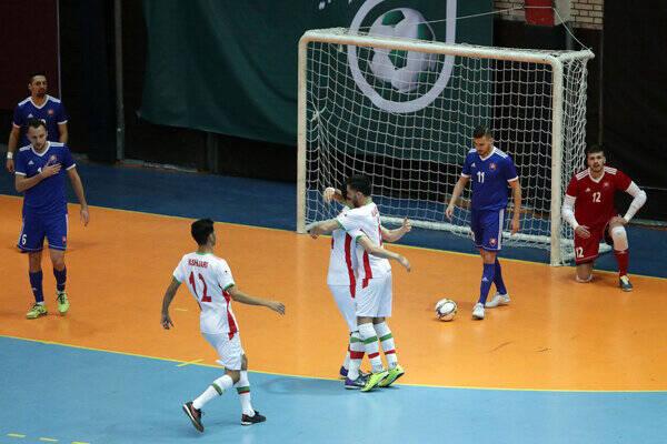 دومین پیروزی تیم ملی فوتسال مقابل ازبکستان