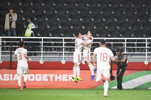 برد تیم ملی فوتبال ایران مقابل ازبکستان در نیمه نخست