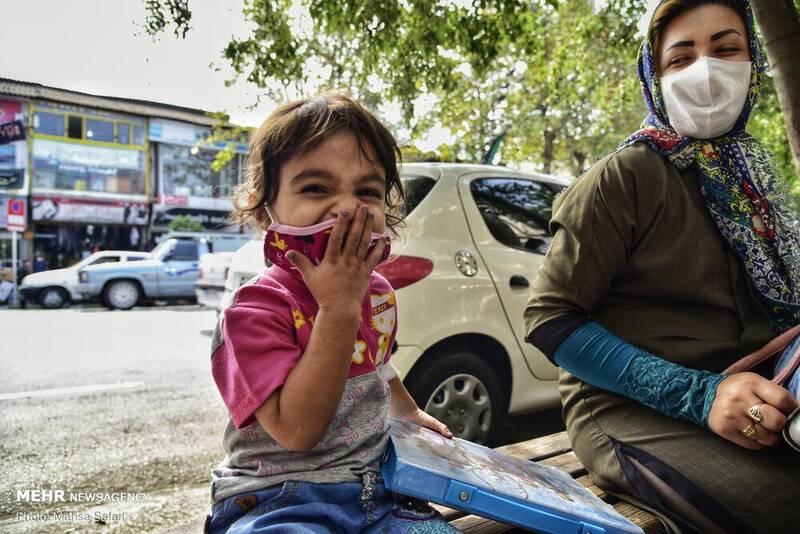تصاویر: روزهای کرونایی کودکان