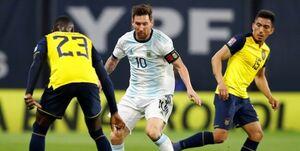 برد آرژانتین با گل مسی، باخت شیلی برابر اروگوئه
