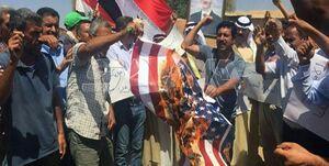 تداوم تظاهرات ضد آمریکایی در دیرالزور