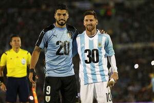 مسی و سوارز با رونالدو برابر شدند