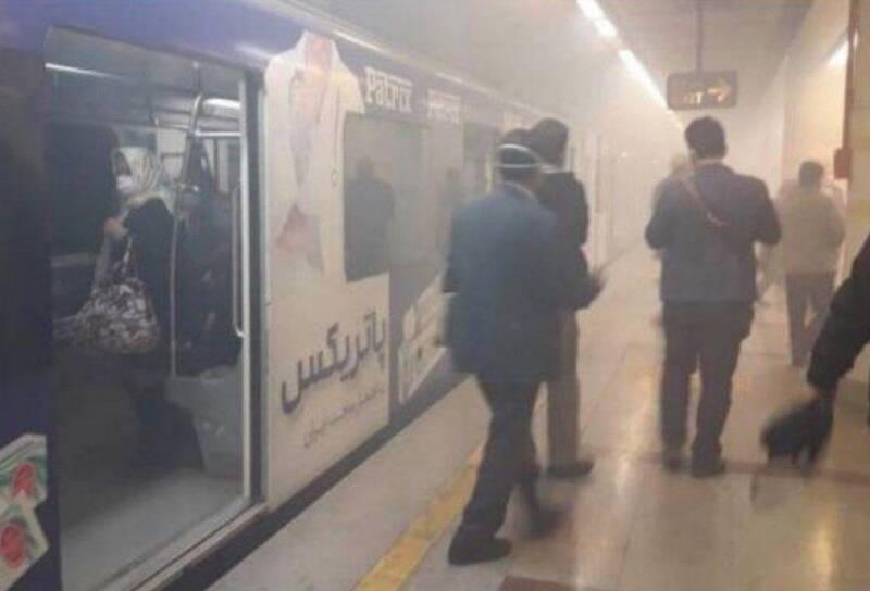 ایستگاه مترو اکباتان تهران آتش گرفت +عکس