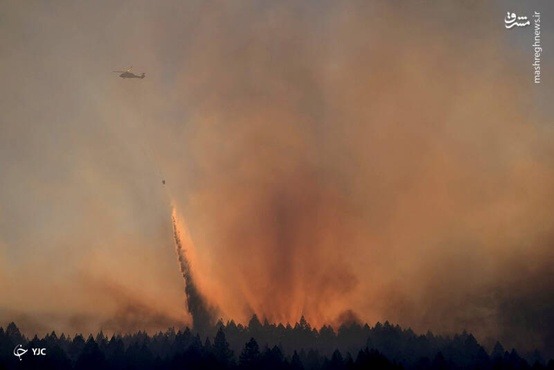خاموش کردن آتش پارک ایالتی دره Bothe-Napa در کالیستوگا ، کالیفرنیا