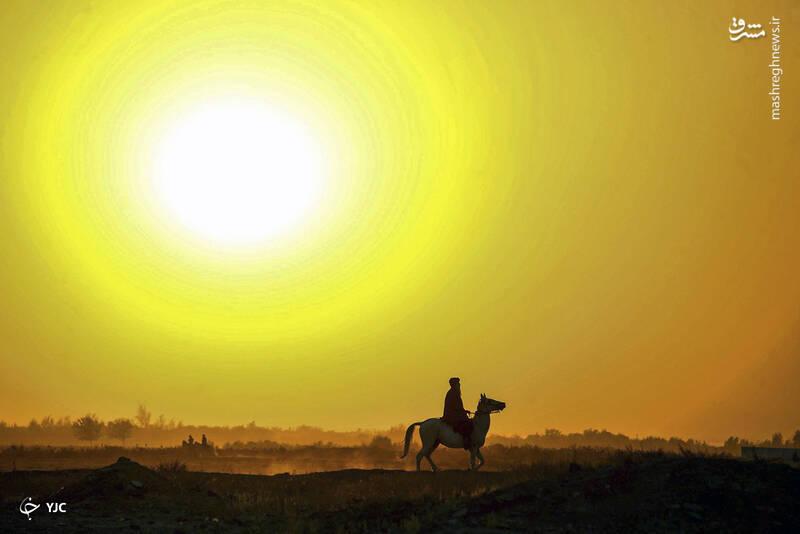 غروب خورشید در منطقه انجیل افغانستان