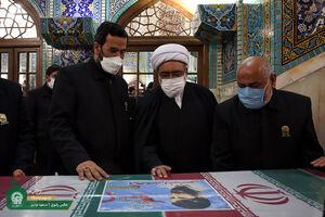استقبال تولیت آستان قدس رضوی از شهدای خان طومان