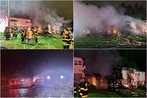 عکس/ انفجار و آتشسوزی در بالتیمور آمریکا