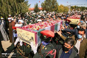 عکس/ استقبال از ۳ شهید تازه تفحص شده در بجنورد