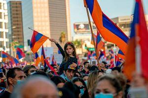 تظاهرات ارمنستانیها در لس آنجلس