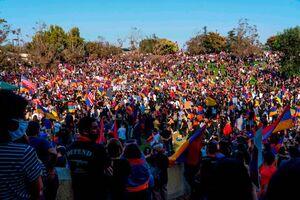 خیابانهای ایروان؛ صحنه تظاهرات ارمنیها علیه پاشینیان