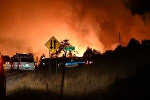 فیلم/ آتش سوزی پایگاه نظامی در خاک آمریکا