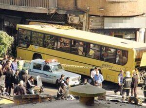 ورود اتوبوس به داخل مغازه در مشگین شهر یک کشته و ۲ مصدوم برجای گذاشت